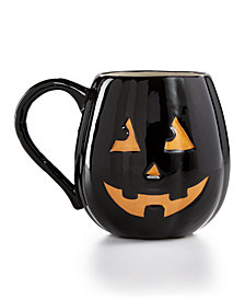 Martha Stewart Collection Jack-O-Lantern Mug, Created for Macy's