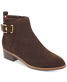 Tommy Hilfiger Women's Terez Block-Heel Zip Booties