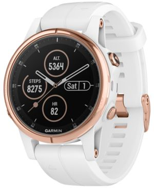 Fenix5S Plus Sapphire Premium Multisport Gps White Smartwatch, 42Mm in Rose Gold
