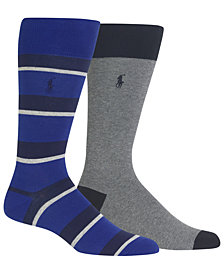 Polo Ralph Lauren Men's 2-Pk. Rugby Stripes Socks