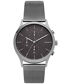 Men's Chronograph Jorn Smoke Stainless Steel Mesh Bracelet Watch 41mm