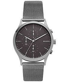 Skagen Men's Chronograph Jorn Smoke Stainless Steel Mesh Bracelet Watch 41mm