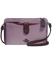 COACH Pebble Pop Up Crossbody Wallet