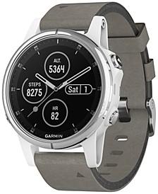 Unisex fenix® 5S Plus Gray Suede Strap Smart Watch 42mm