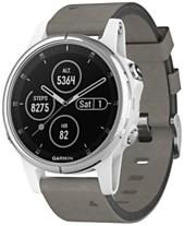 b21b3491a78c Garmin Unisex fenix® 5S Plus Gray Suede Strap Smart Watch 42mm