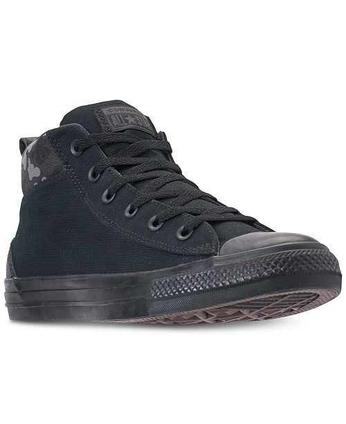 ec8e6c23536a ... Converse Men s Chuck Taylor All Star Street Mid Combat Zone Casual  Sneakers from Finish ...