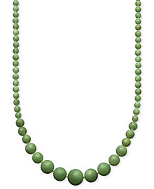 Jade Graduated Strand Necklace in 14k Gold (6-14mm)