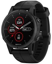 c8b3378f9cf0 Garmin Unisex fenix® 5S Plus Black Silicone Strap Smart Watch 42mm