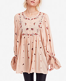 Free People Kiss From a Rose Embroidered Tunic