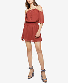 BCBGeneration Cold-Shoulder Shirred Dress