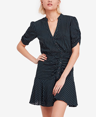 Pippa Ruched Asymmetrical Shirtdress by Free People
