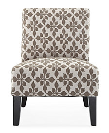 Monaco Accent Chair, Spades Taupe