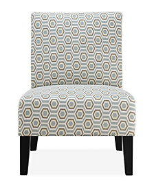 Brice Accent Chair, Pastel Geometric