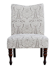 Payton Accent Chair, Paisley Grey