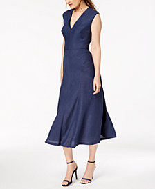 Anne Klein A-Line Midi Dress