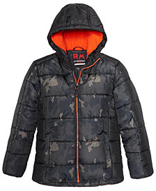 RM 1958 Big Boys Kyle Colorblocked Printed Hooded Jacket
