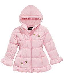 S. Rothschild Little Girls Embroidered Hooded Puffer Jacket