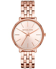 Michael Kors Women's Pyper Rose Gold-Tone Stainless Steel Bracelet Watch 38mm