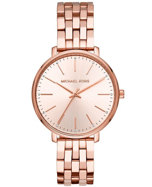Women S Pyper Rose Gold Tone Stainless Steel Bracelet Watch 38mm