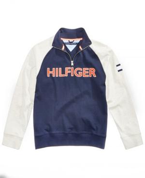 Tommy Hilfiger Little Boys Raglan QuarterZip Cotton Pullover