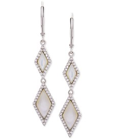 Mother-of-Pearl & White Topaz (3/4 ct. t.w.) Drop Earrings in Sterling Silver