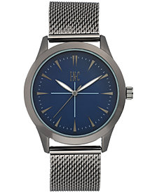 I.N.C. Men's Dark Gunmetal Stainless Steel Mesh Bracelet Watch 43mm, Created for Macy's