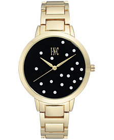 I.N.C. Women's Gold-Tone Bracelet Watch 36mm, Created for Macy's