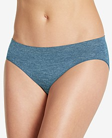 Smooth and Shine Seamfree Heathered Bikini Underwear 2186, available in extended sizes