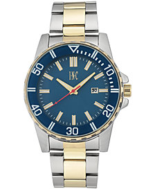 I.N.C. Men's Two-Tone Bracelet Watch 44mm, Created for Macy's