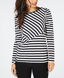 Thalia Sodi Striped Top, Created for Macy's