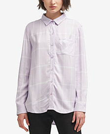 DKNY Plaid Button-Up Shirt, Created for Macy's