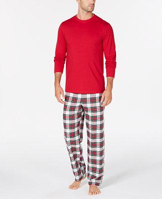 72f456dc00 Family Pajamas Matching Men s Stewart Plaid Pajama Set