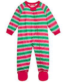 Matching Family Pajamas Infant Crushed It Stripe Footed Pajamas, Created for Macy's