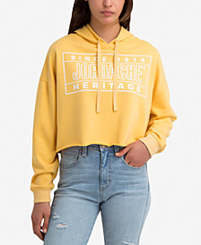 Jordache Kelly Cropped Graphic Hoodie