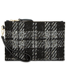 I.N.C. Molyy Boucle Party Wristlet Clutch, Created for Macy's