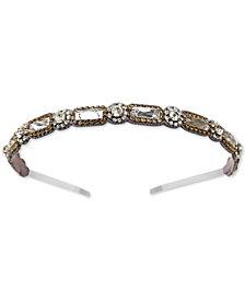 Deepa Gunmetal-Tone Crystal Embellished Headband
