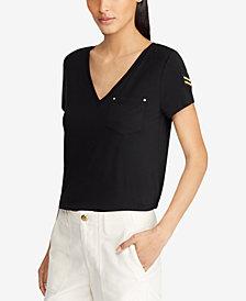 Lauren Ralph Lauren Patch Jersey T-Shirt