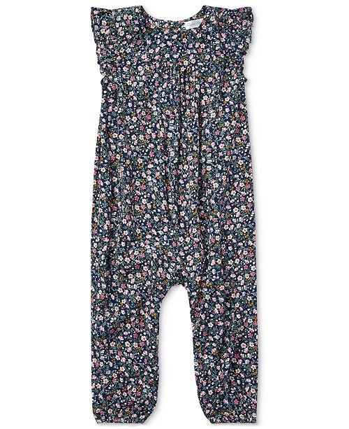 f27cb312f9f ... Polo Ralph Lauren Ralph Lauren Baby Girls Floral-Print Flutter-Sleeve  Romper ...