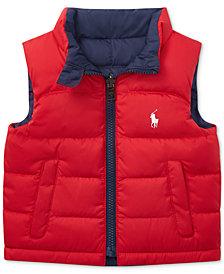 Ralph Lauren Baby Boys Reversible Ripstop Vest