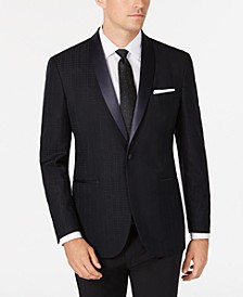 Men's Slim-Fit Tonal Houndstooth Dinner Jacket, Online Only