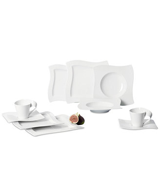 New Wave 30 Pc. Dinnerware Set, Service For  6 by Villeroy & Boch