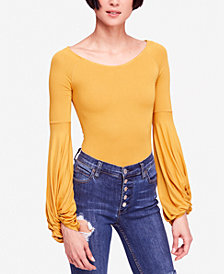 Free People To The Tropics Twist-Sleeve Top