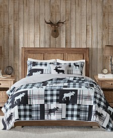 Sweetwater Reversible 4-Pc. Oversized King/California King Quilt Set