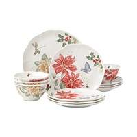 Deals on Lenox Butterfly Meadow Holiday 12-Piece Dinnerware Set