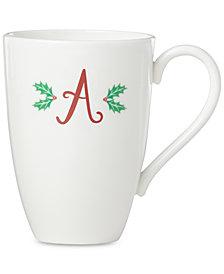 Lenox Holiday Leaf Monogram Mug