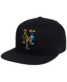 '47 Brand New York Mets Camfill Neon Snapback Cap