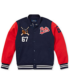 Polo Ralph Lauren Big Boys Polo Bear Baseball Jacket