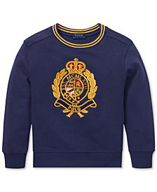 Polo Ralph Lauren Toddler Boys Cotton Crest Sweatshirt
