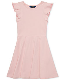 Polo Ralph Lauren Big Girls Ruffled Dress