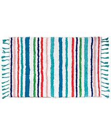 "Dena Tropical Cotton Stripe 20"" x 30"" Bath Rug"